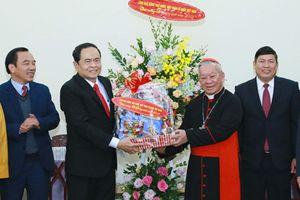 Chúc mừng Giáng sinh các chức sắc Công giáo, Tin lành ở Hà Nội