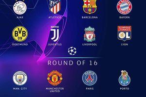 Xác định 16 đội bóng vào vòng 1/8 Champions League