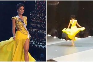 Ơn giời, fancam quay trọn vẹn màn tung váy xuất thần của H'Hen Niê tại Miss Universe 2018 đây rồi