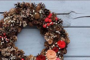 Clip: Cách làm vòng nguyệt quế treo cửa đơn giản đón Giáng sinh