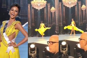 Clip hot nhất đêm: Fancam H'Hen Niê xoay 360 độ 'thần thánh' mà máy quay Miss Universe đã bỏ lỡ