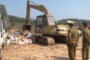 Lạng Sơn: Tiêu hủy hàng nghìn sản phẩm hàng hóa giả mạo nhãn hiệu