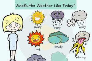 Học từ vựng tiếng Anh về thời tiết qua hình ảnh dễ thương