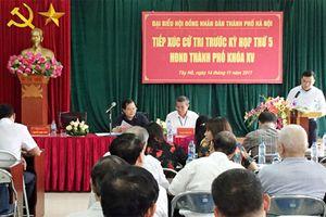 Thay đổi lịch tiếp xúc cử tri HĐND TP Hà Nội tại huyện Thanh Oai