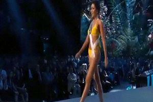 H'Hen Niê trình diễn áo tắm bốc lửa tại bán kết Miss Universe