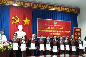 TAND tỉnh Tây Ninh công bố và trao quyết định bổ nhiệm Thẩm phán