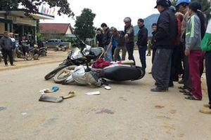Hai xe máy 'đấu đầu', một thai phụ bị thương nặng