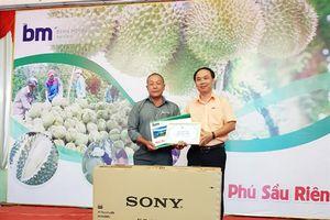 Nhà vườn Nguyễn Minh Thảo đạt giải nhất hội thi 'Tỷ phú sầu riêng'