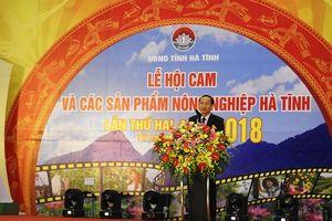Tưng bừng lễ hội cam và các sản phẩm nông nghiệp Hà Tĩnh lần thứ 2