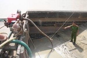 Khởi tố đối tượng bơm hút cát trái phép trên sông Đồng Nai