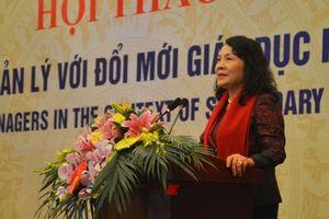 Nữ cán bộ quản lý đóng vai trò quan trọng trong đổi mới giáo dục