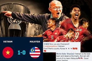 Cồ động viên Malaysia thừa nhận Việt Nam xứng đáng vô địch