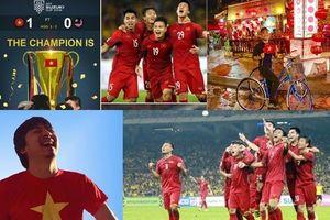 Tuyển Việt Nam vô địch AFF Cup 2018: Loạt sao Việt xuống đường 'đi bão' ăn mừng