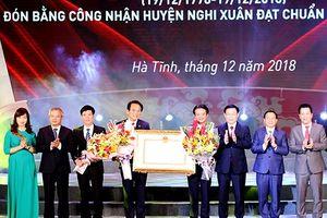 Huyện Nghi Xuân (Hà Tĩnh) đón bằng công nhận huyện đạt chuẩn nông thôn mới
