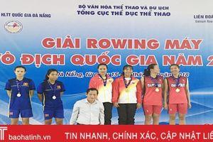 Hà Tĩnh giành 5 huy chương Giải Rowing máy vô địch quốc gia