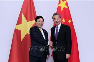 Phó Thủ tướng Phạm Bình Minh hội đàm với Bộ trưởng Ngoại giao Trung Quốc Vương Nghị