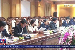 Đồng chí Võ Văn Thưởng làm việc tại Hà Tĩnh