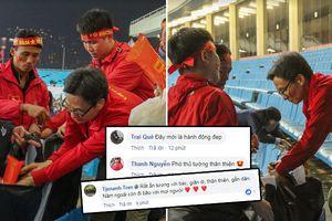 Cảm động với hình ảnh đẹp của Phó Thủ tướng Vũ Đức Đam sau trận đấu tại Mỹ Đình