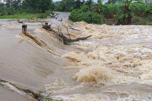 Đắk Lắk: Ngập lụt cục bộ, sạt lở quốc lộ do mưa lớn