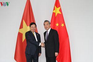 Gặp gỡ song phương giữa Bộ trưởng Ngoại giao Việt Nam-Trung Quốc