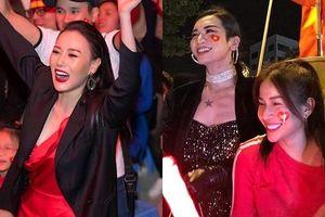 Phương Oanh 'Quỳnh búp bê', Khả Như cùng loạt sao Việt xuống đường ăn mừng chiến thắng của đội tuyển Việt Nam