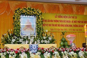 Tưởng niệm 25 năm ngày viên tịch Đệ nhất Pháp chủ Giáo hội Phật giáo