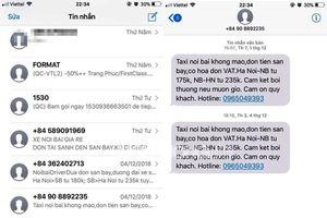 Khách hàng bức xúc vì đặt vé VNA liên tiếp bị taxi khủng bố tin nhắn