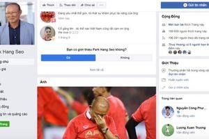Giả mạo Facebook HLV Park Hang Seo có thể bị phạt 30 triệu đồng