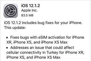 Đã có thể tải về iOS 12.1.2 cho iPhone, iPad