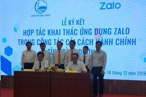 Bình Dương: Khai thác ứng dụng Zalo trong cải cách thủ tục hành chính
