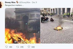 Vấn nạn 'tin vịt' qua bức ảnh ngọn lửa lớn ở Paris
