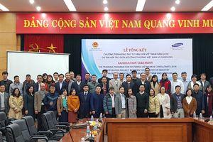 Năm 2018, Sam Sung hỗ trợ đào tạo 95 chuyên gia tư vấn về công nghiệp phụ trợ cho VN