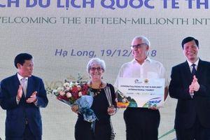 Việt Nam đón vị khách quốc tế thứ 15 triệu tại Hạ Long – Quảng Ninh