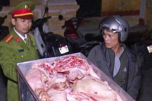 Thái Bình: Thu giữ 2 tạ thịt lợn không rõ nguồn gốc