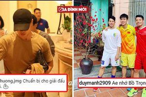 Tuyển Việt Nam hội quân trước thềm Asian Cup, các cầu thủ đăng gì trên mạng xã hội?