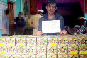Bắt nghi phạm mang 63 kg pháo từ Quảng Bình ra Hà Tĩnh tiêu thụ