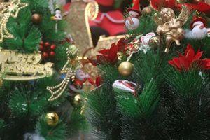 Người dân nhộn nhịp sắm Giáng sinh, chủ hàng 'hét giá' 40 triệu đồng/cây thông Noel giả