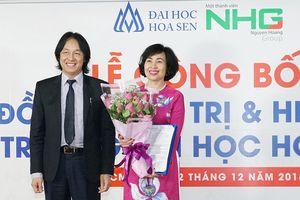 GS.TS. Mai Hồng Quỳ giữ chức Hiệu trưởng Trường Đại học Hoa Sen