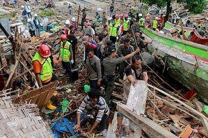 Hơn 1000 người thương vong vì sóng thần tại Indonesia