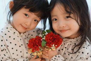 Vẻ đáng yêu của cặp song sinh 4 tuổi Hàn Quốc