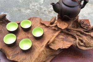 Loại gỗ hiếm có nguy cơ tuyệt chủng tại VN tạo nên những khay trà độc đáo