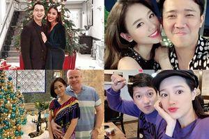 Sao Việt đón Giáng sinh: Người sánh đôi tình tứ, kẻ lẻ bóng khung hình
