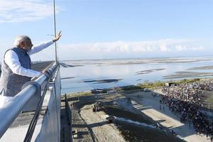 Ấn Độ khánh thành cầu Bogibeel dài nhất giáp biên giới Trung Quốc