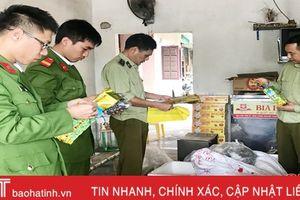 Phát hiện hơn 1.000 gói trà xanh làm giả nhãn hiệu tại TX Hồng Lĩnh