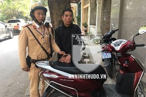 Vừa 'nhảy' xe máy, kẻ trộm cắp có nhiều tiền án tiền sự đã bị CSGT khống chế