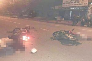 Xe máy đối đầu trong đêm, 2 người tử vong