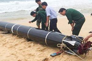 Bộ Quốc phòng thông tin vật thể dạt vào biển Phú Yên là ngư lôi nước ngoài