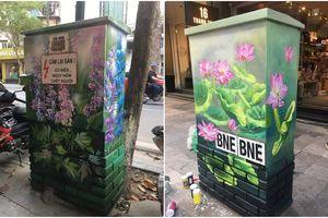 Giới trẻ Hà thành thích thú với 'BỐT ĐIỆN' hoa lá cành trên phố Tràng Tiền