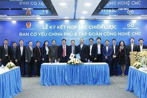 Tập đoàn Công nghệ CMC ký kết hợp tác toàn diện với Ban Cơ yếu Chính phủ