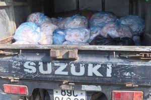 Hưng Yên: 600kg bì lợn bốc mùi hôi thối bị thu giữ